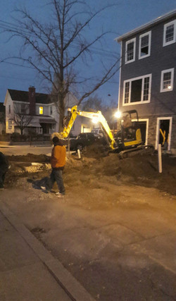 Trenching for Water Line Connection, 274 Lembeck Ave, Jersey City