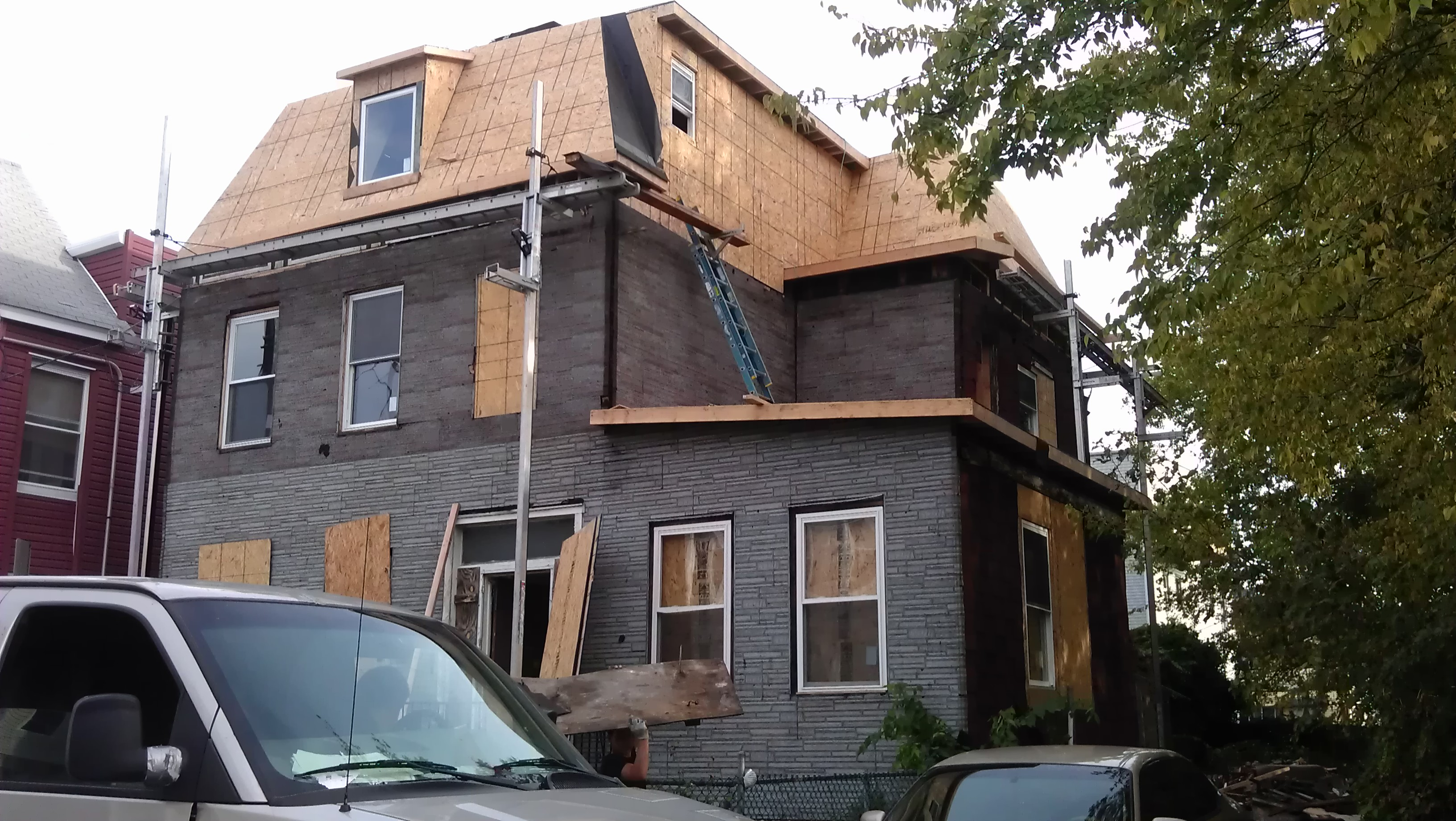 Roof Rebuild 4 Vreeland Terrace, Jersey City