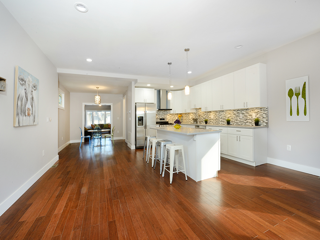 136 West 57th St, Bayonne, Family Room and Kitchen