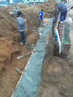 Footings at 274 Lembeck Ave, Jersey City