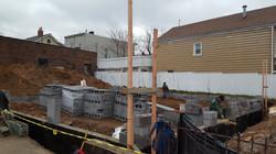 Concrete Block Wall Preparation 274 Lembeck Ave, Jersey City