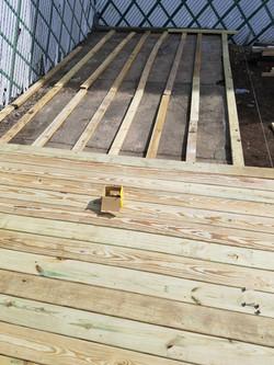 Pressure Treated Deck Installation