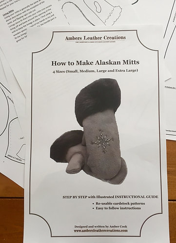 How to make Alaskan Mitts Book & Patterns NEW(easy)