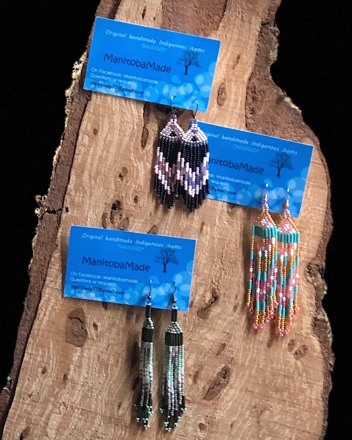 Indigenous Style Beaded Fringed Earringswith Jake Freeman