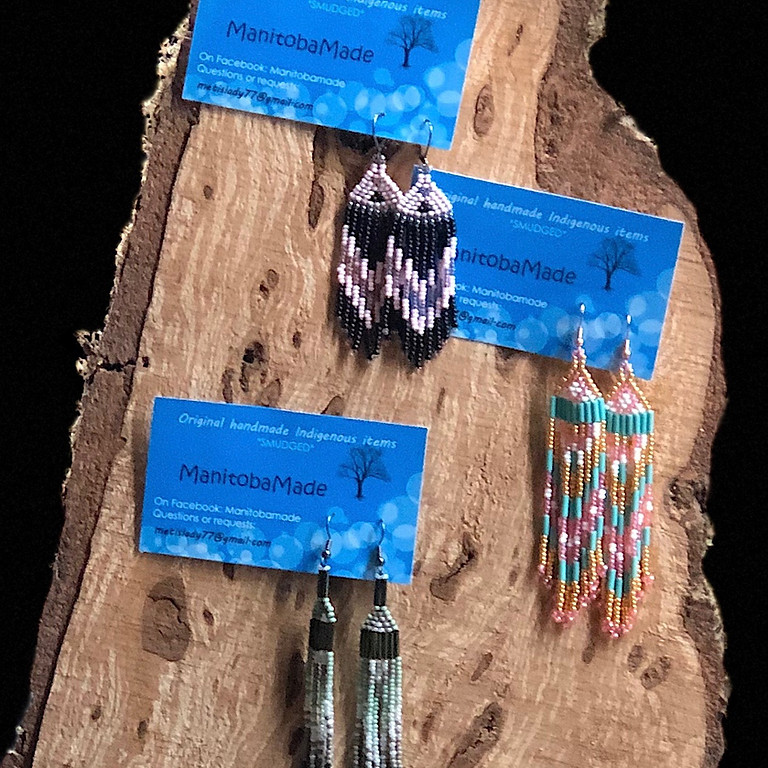 Indigenous Style Beaded Fringed Earringswith Jake Freeman #2