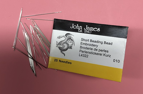 John James - short beading needles #10