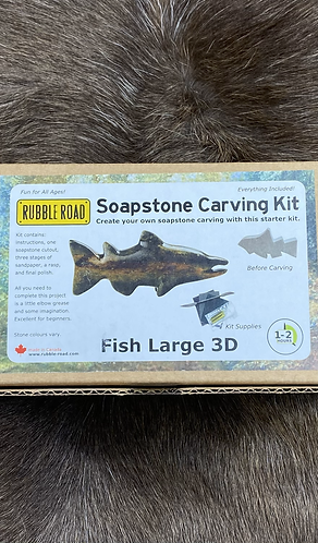 DIY Fish Soapstone Carving Kit