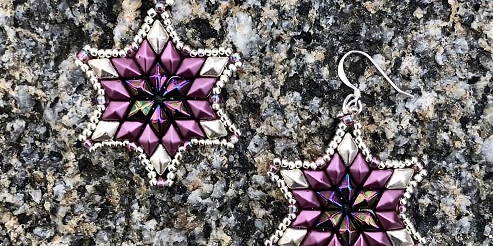 Winter Stars Earrings or Pendent with Bonnie Penner