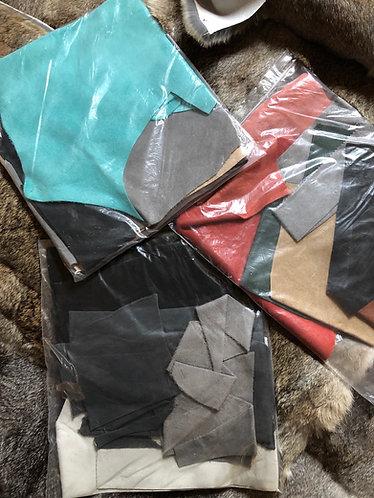 Suede scrap bags