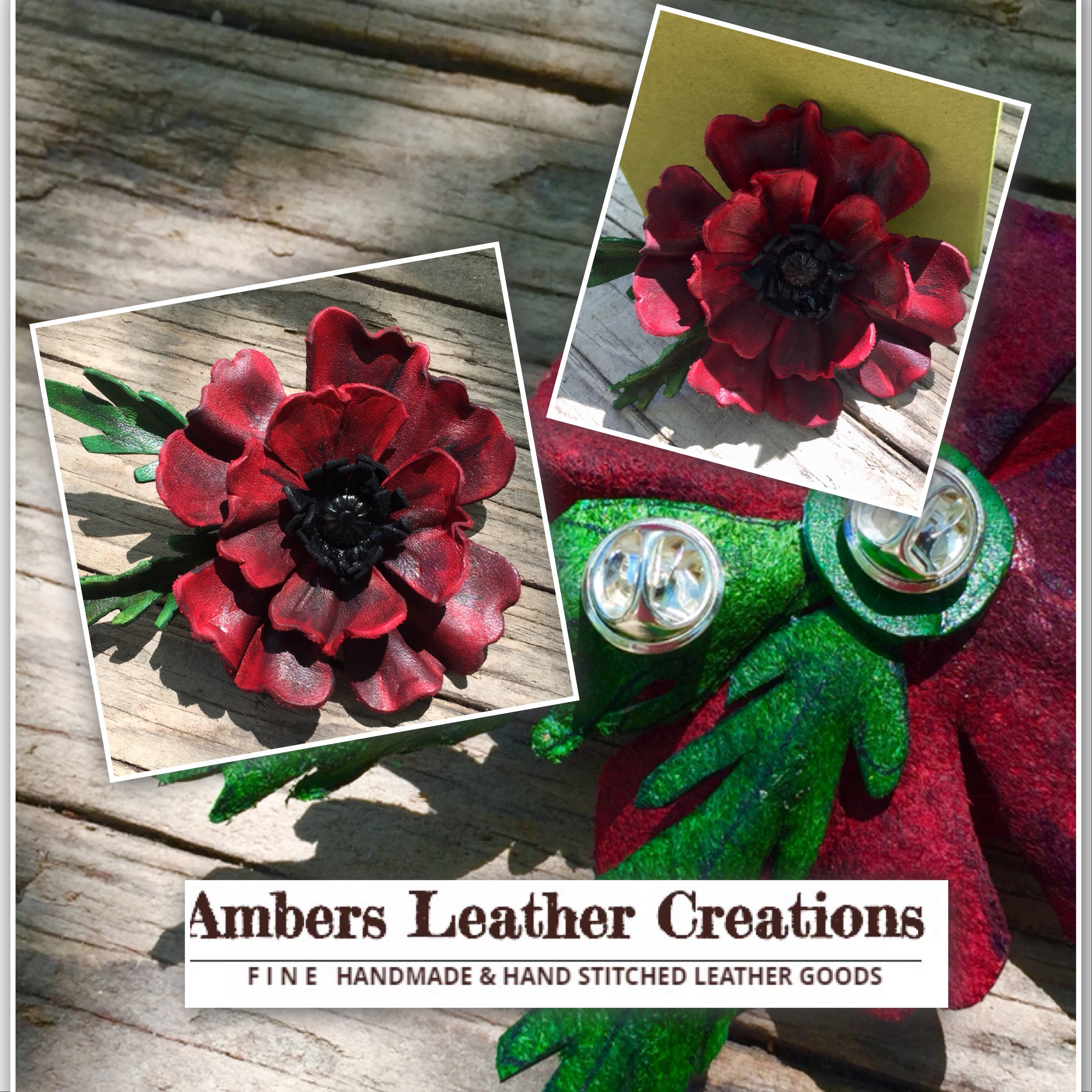 Molded Leather Poppy (1)
