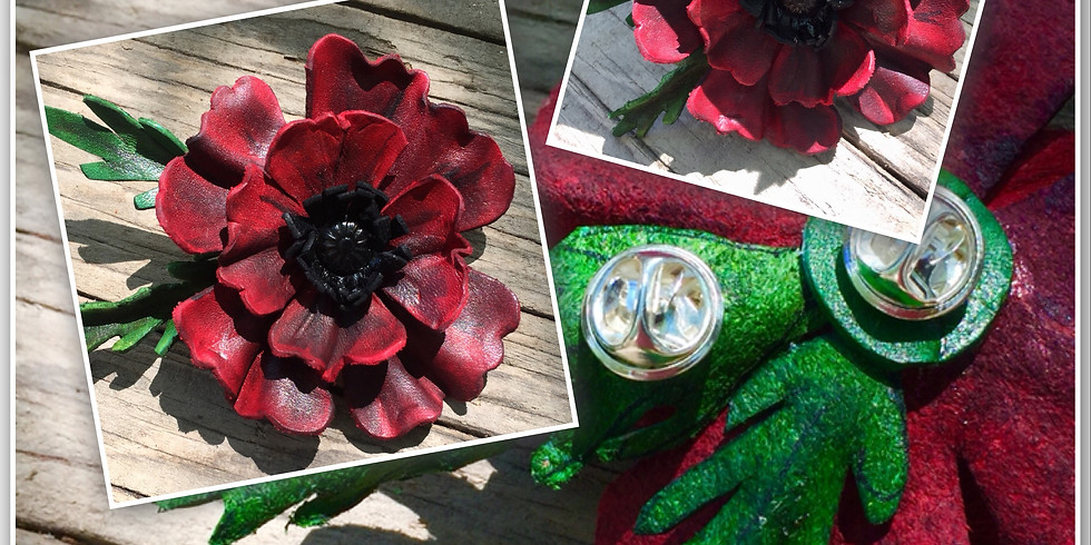 Molded Leather Poppy (1)