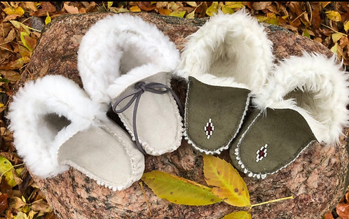 Easy peasy faux suede infant moccasins Kit
