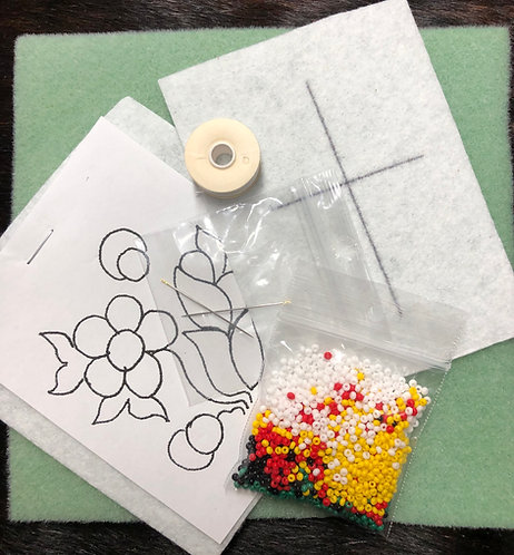 Bead Embroidery class kit with video tutorial