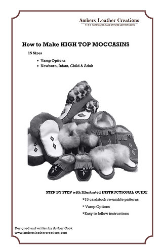 How to make High Top Moccasins Book & Patterns NEW