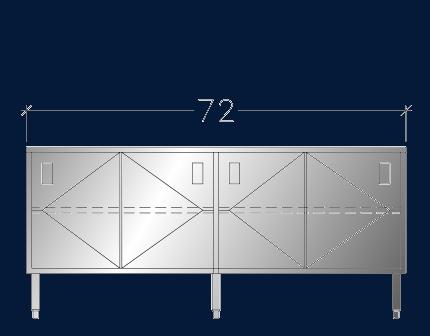 """24"""" x 6' ASEI-BTSD-2472"""