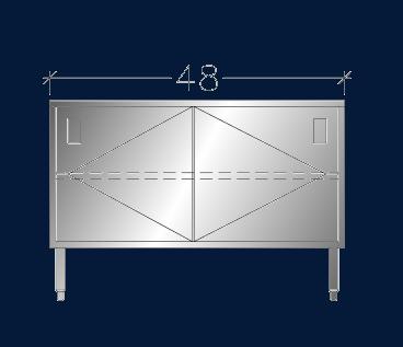 """30"""" x 4' ASEI-BTSD-3048"""