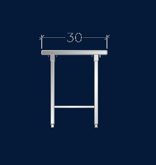 "30"" Wide Work Tables w/ Under-Shelf"