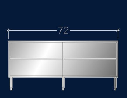"""24"""" x 6' ASEI-OB-2472"""