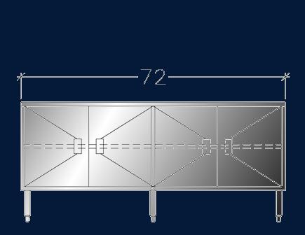 """24"""" x 6' ASEI-BTHD-2472"""