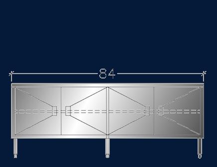 """24"""" x 7' ASEI-BTHD-2484"""