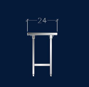 "24"" Wide Work Tables w/ Under-Shelf"