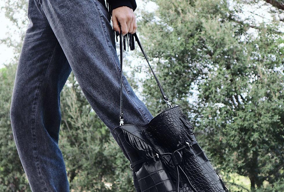Madrid: Malasaña - Black Shoulder Handbag
