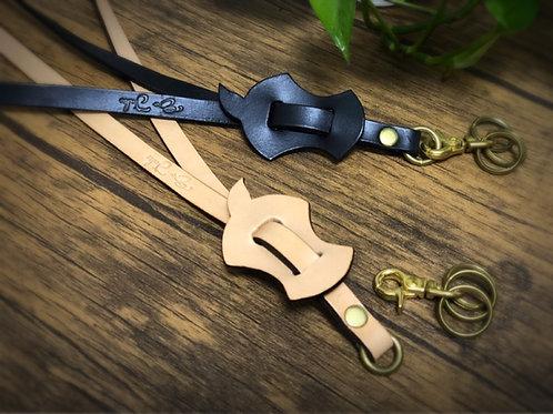 Peace Apple Leather Key Strap