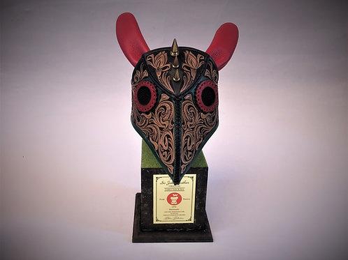 """""""1 Eye Debbit"""" on the Full Carving Mask"""