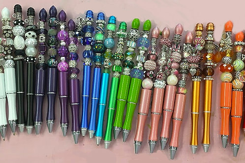 Beaded Metal Ballpoint Pens
