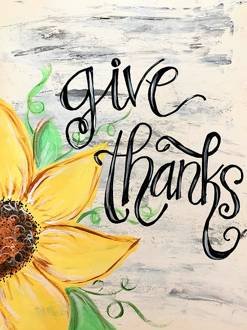 Give Thanks Paint Kit