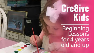 Cre8ive Kids Paint Lessons