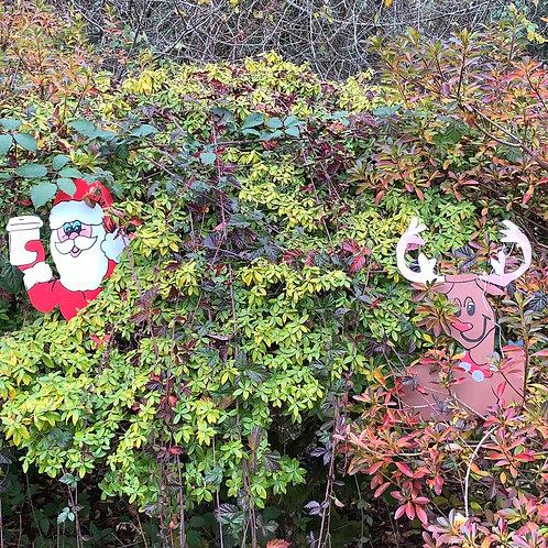 Santa & Rudolph Tree Hugger