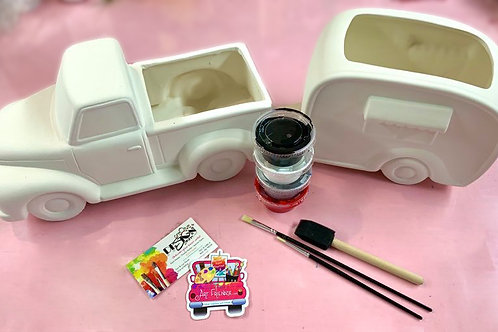 DIY Vintage Truck AND Camper Set FULL KIT