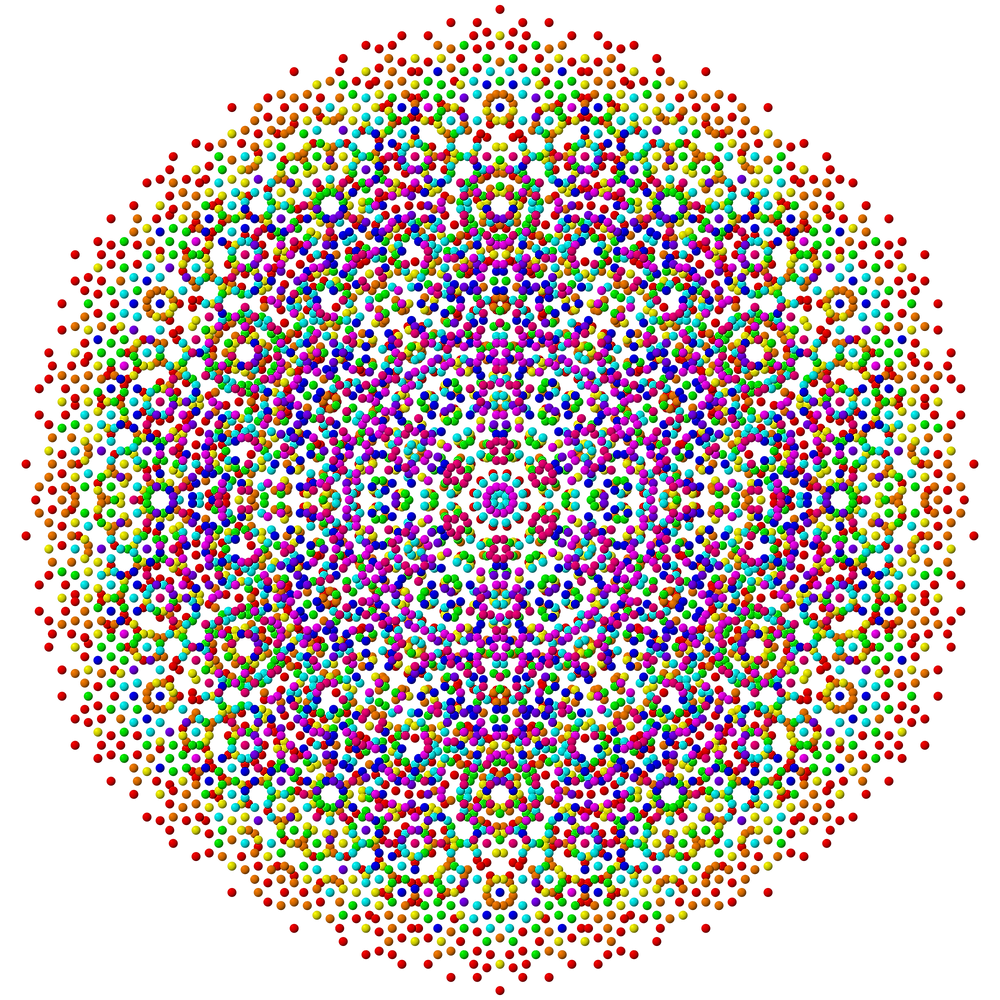 Fig. 1: Two dimensional symmetry. If the Big Bang had not had small fluctuations in its particle, the universe might have had a pattern a bit like this, but in three or more dimensions