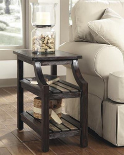 t580 Mestler Chair Side End Table Rustic Brown