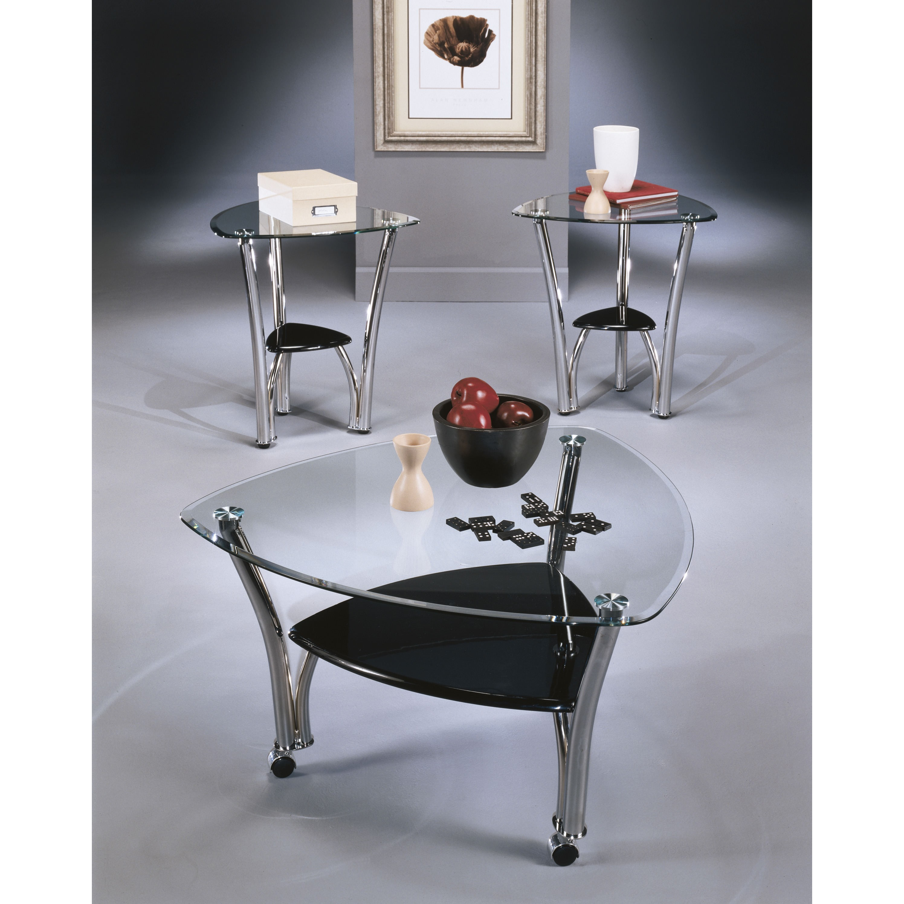 Pascal 3-Piece Occasional Table Set in Chrome T140-13-ASHLEY
