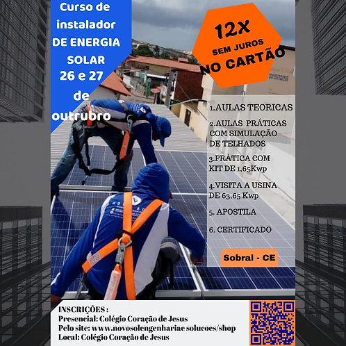 Curso Presencial de Instalador de Energia Solar Em Sobral- CE