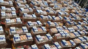 Balanço distribuição kits alimentação