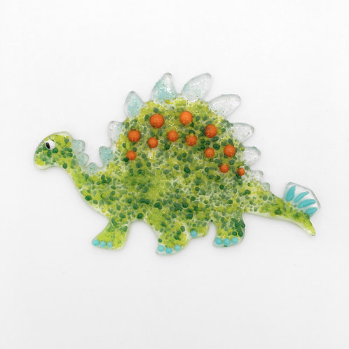 To-Go Glass Kit: Stegosaurus Suncatcher
