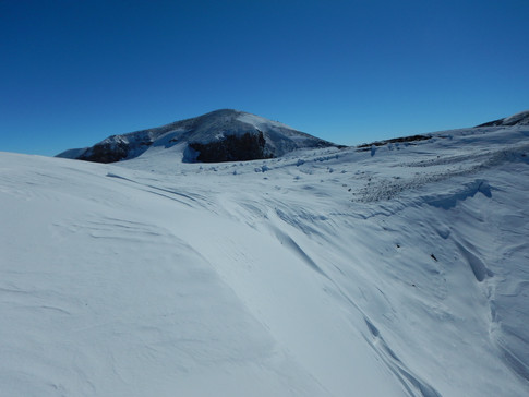 Mt. Melbourne: view of the summit area where the geochemistry surveys have been conducted.