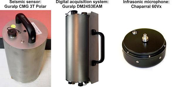 Antarctica scientific instruments ICEVOLC