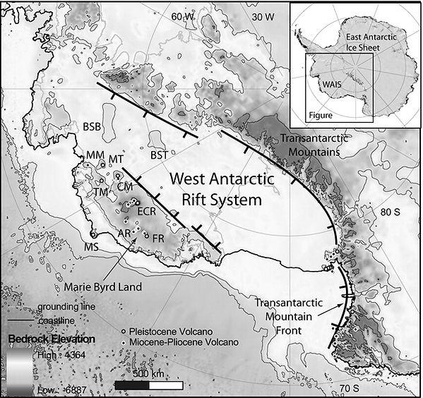 Antarctica volcanoes ICEVOLC west rift