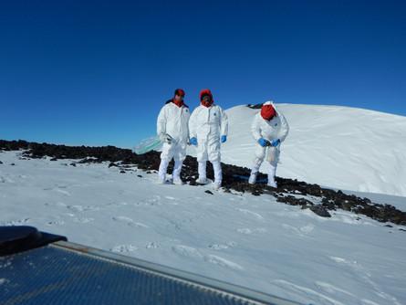 Antarctica ICEVOLC project geochemistry volcanoes Melbourne Rittmann