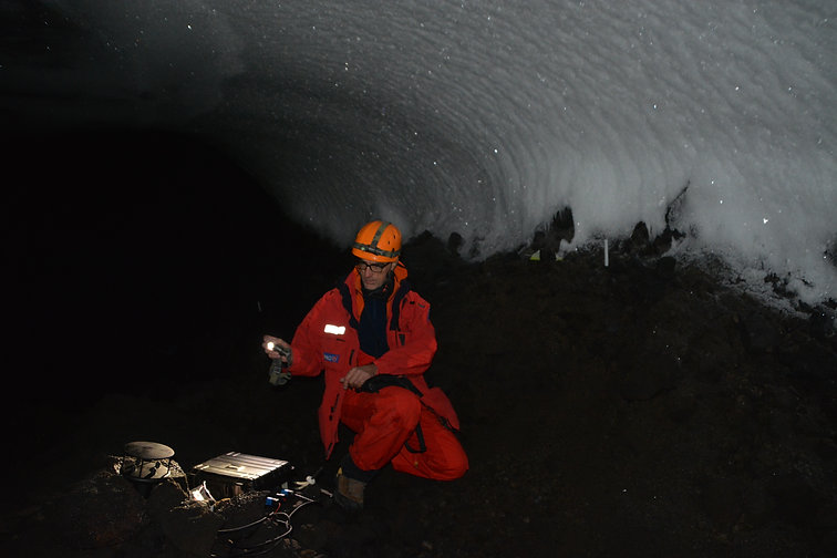 Antarctica ice-caves ICEVOLC volcanoes
