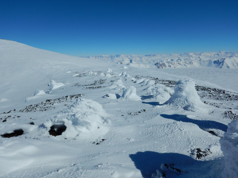 Mt. Melbourne: detail of fumarolic field  in Cryptogam area (ASPA – Antarctic Specially Protected Area) .