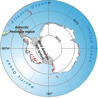 Antarctica volcanoes ICEVOLC