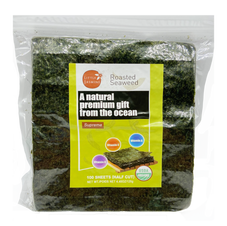 Organic Roasted Seaweed (100 Sheets)