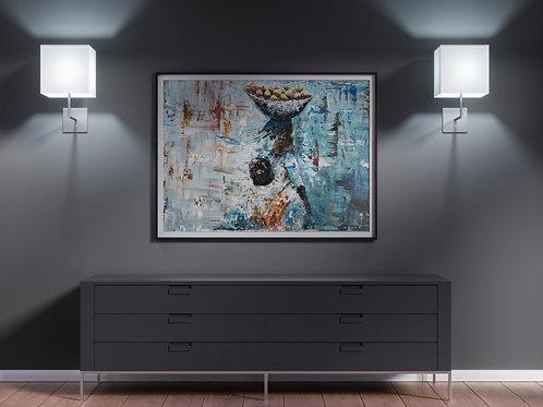 "Original Painting ""Iya Olosan""(SOLD)"