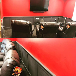 A mission style wainscoting we did for the fire house
