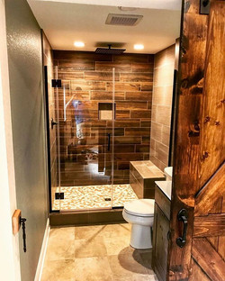 Finally able to finish this basement bathroom today